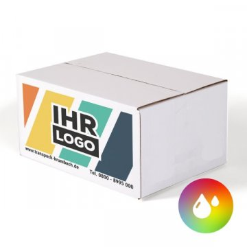 50 x Faltkarton 215x180x135m Paket Verpackungskarton Post Schachtel  Logo