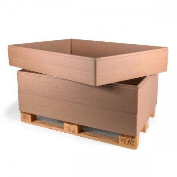 aufsatzrahmen f r paletten aus wellpappe im online shop von transpack krumbach kaufen. Black Bedroom Furniture Sets. Home Design Ideas