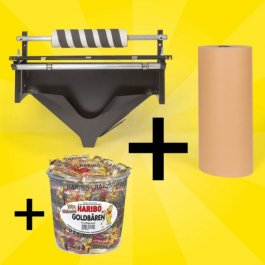 Spar-Set Füllpapier-Spender + Packpapier + Haribo Goldbären