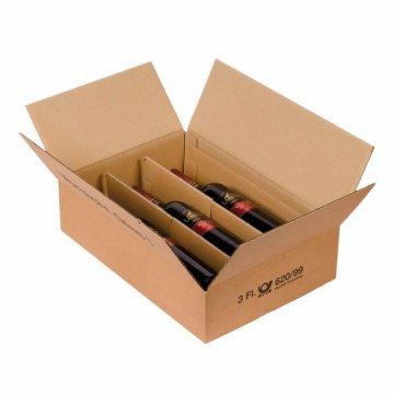 flaschenkarton mit ptz zulassung f r weinflaschen liegend. Black Bedroom Furniture Sets. Home Design Ideas